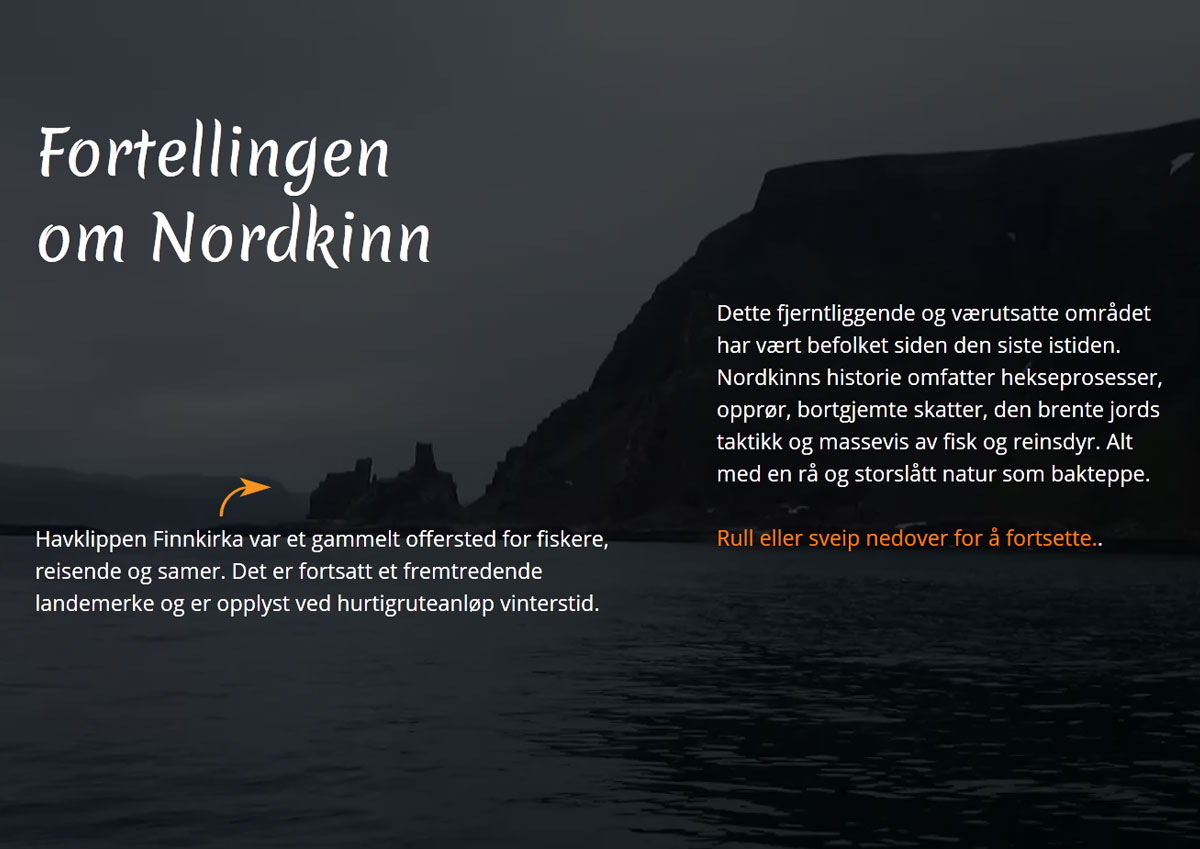 Fortellingen om Nordkinn - webdesign / video