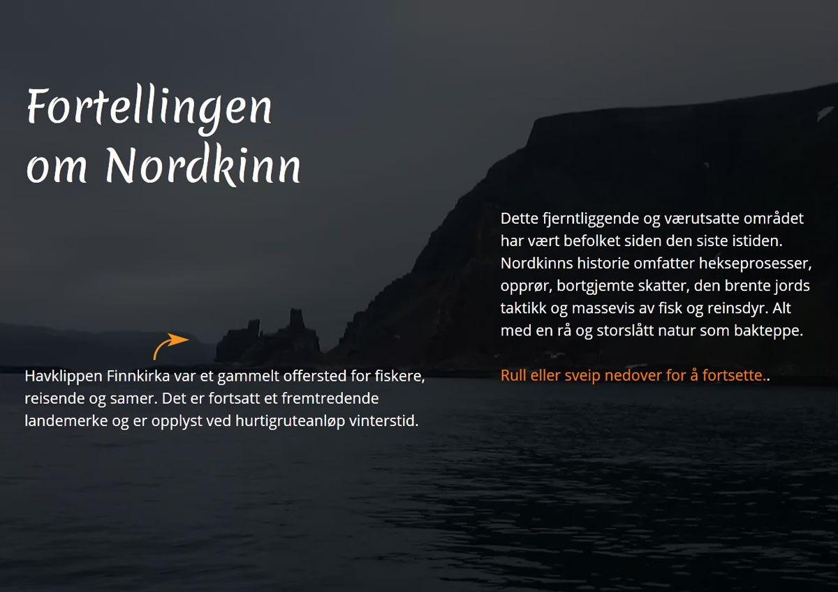 The Story of Nordkinn - web design / video