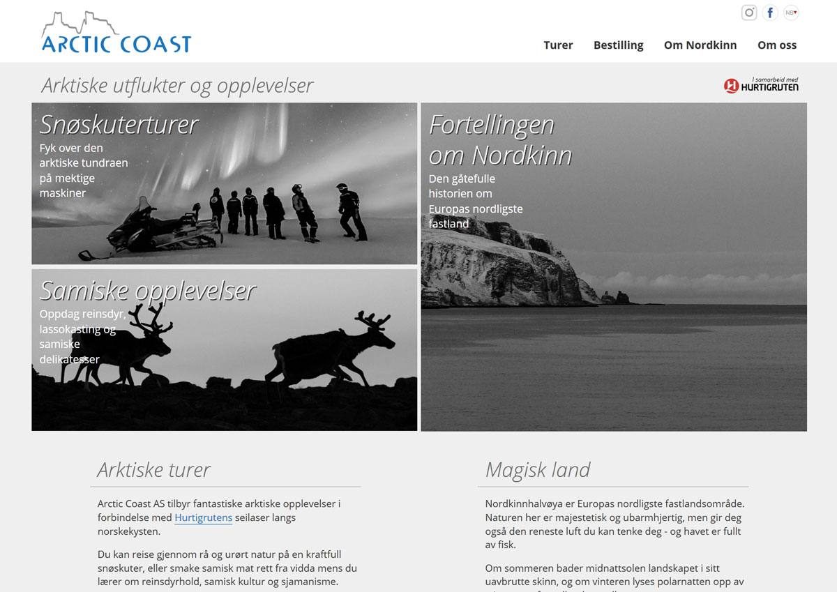 Arctic Coast - webdesign