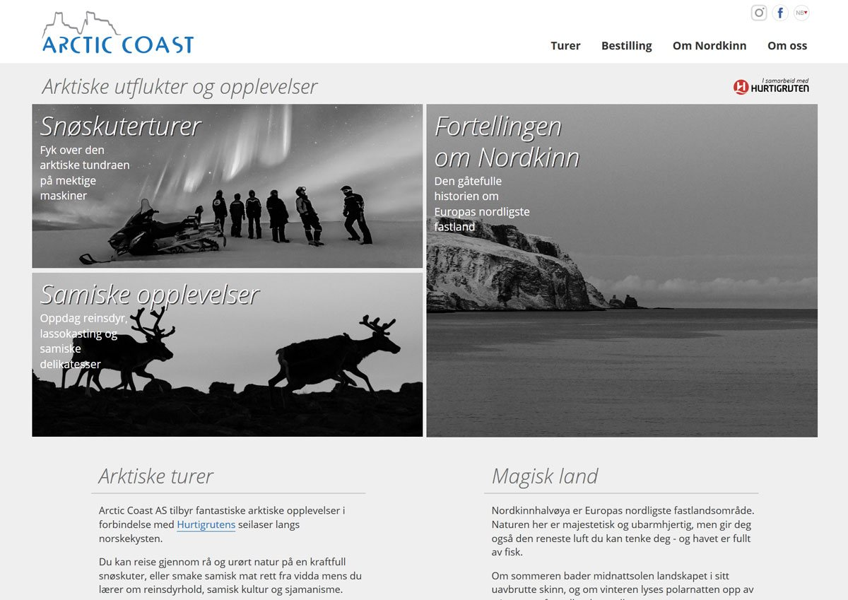Arctic Coast - web design